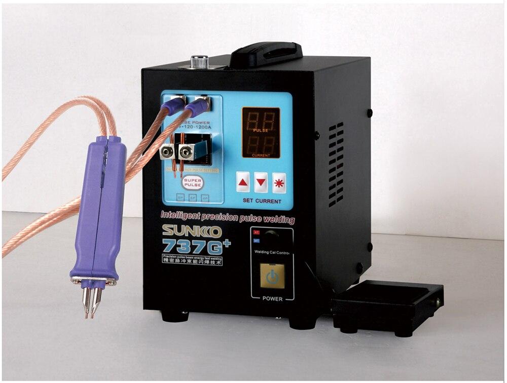 SUNKKO-آلة لحام البقعة الأوتوماتيكية عالية الطاقة لبطاريات الليثيوم ، آلة لحام النبض ، 737G ، 4.3KW ، 18650