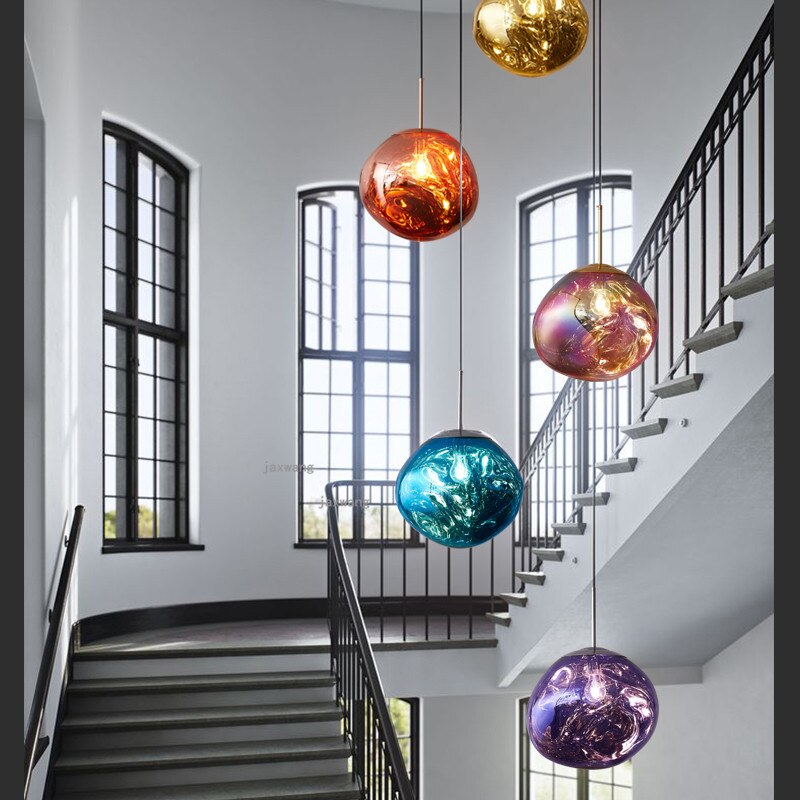 Luminária led pendente de lava e barra, postura moderna, dixon, arte, decoração, para área interna, iluminação para casa, vidro, luminárias, lâmpada suspensa