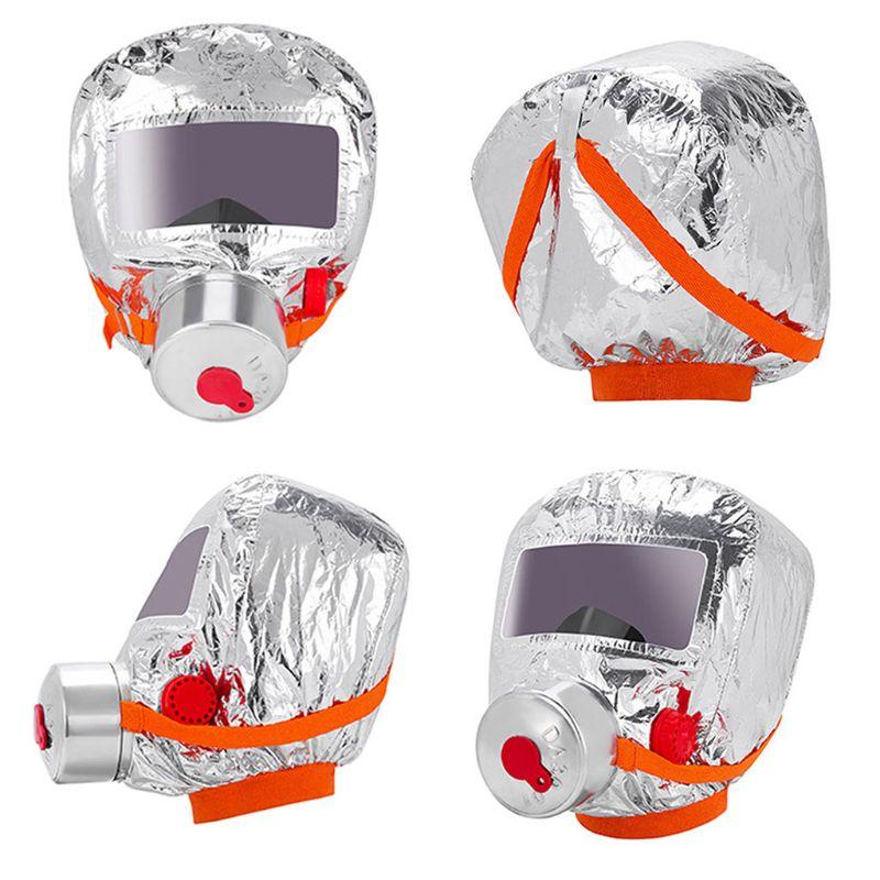2021 New Fire Eacape Face Mask Self-rescue Respirator Gas Mask Smoke Protective Face Cove