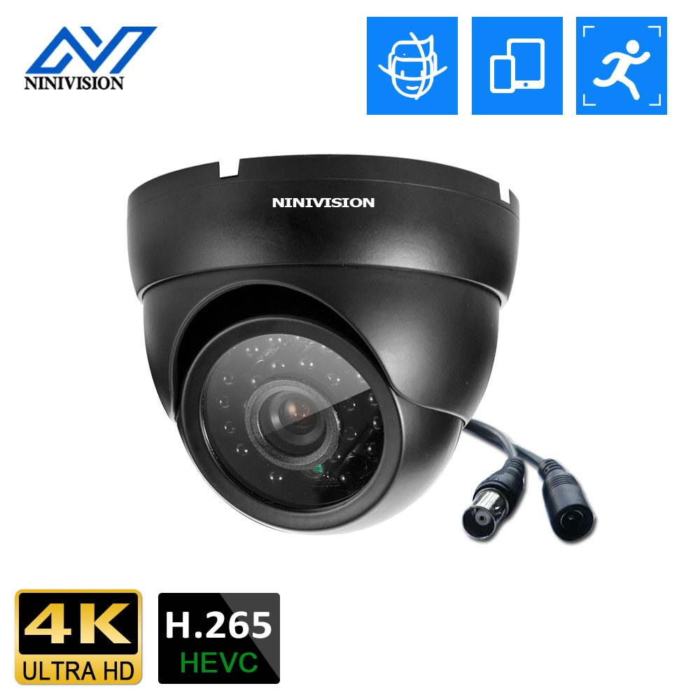 4K الترا HD كاميرا AHD المنزل قبة مقاوم للماء الأشعة تحت الحمراء للرؤية الليلية كشف الوجه 8MP CCTV كاميرا مراقبة فيديو الأمن