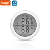 Tuya WIFI temperature maison intelligente et capteur dhumidite avec ecran LED fonctionne avec Assistant a domicile