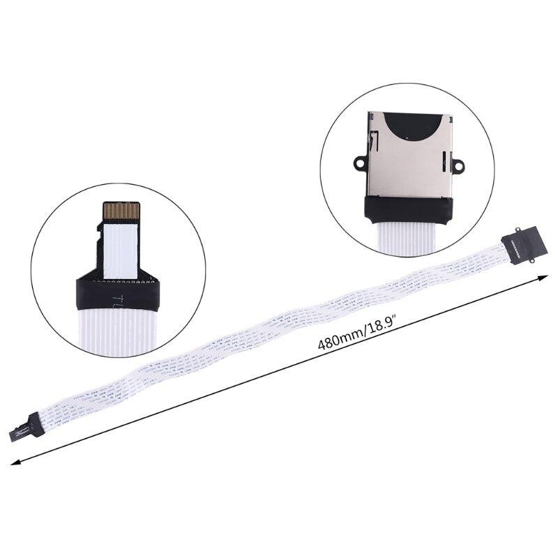 Lector de cable de extensión de tarjeta SD, de tarjeta de memoria, Flexible, macho, micro SD, hembra a TF