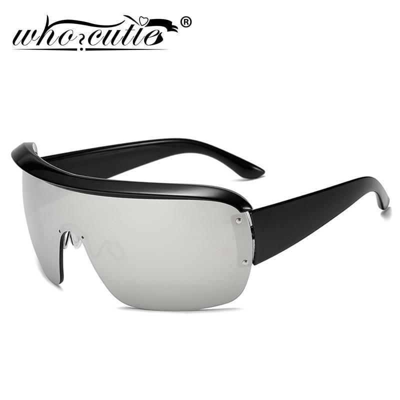 2020 uma Peça futurista Óculos De Sol Dos Homens Grife Metade Quadro Óculos Oversized Óculos de Sol Da Lente Do Espelho Esporte Shades S134B