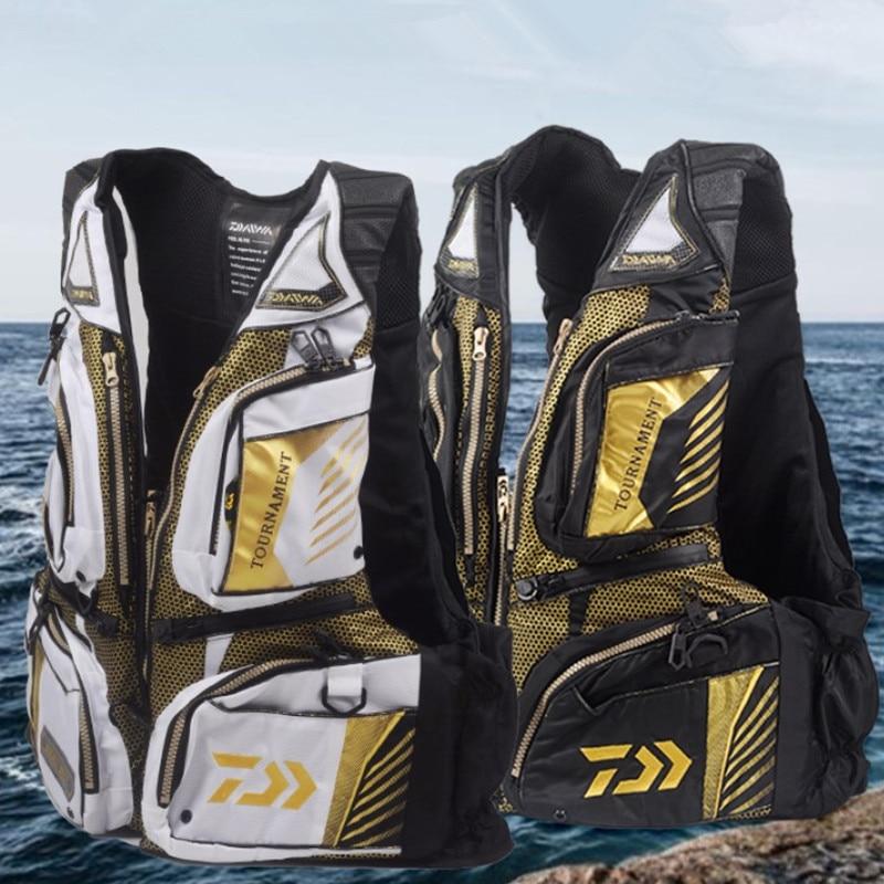 High Quality Daiwa Fishing Lifejacket Portable Fishing Float Vest Professional Raft Fishing Sea Fishing Vest Men Buoyancy Jacket