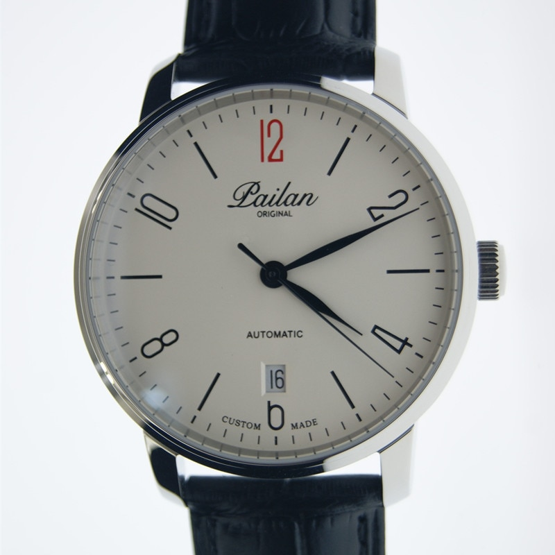 بسيط باوهاوس الرجال التلقائي ساعة ميكانيكية St2130 مقاوم للماء التقويم رجال الأعمال الميكانيكية ساعة الصين