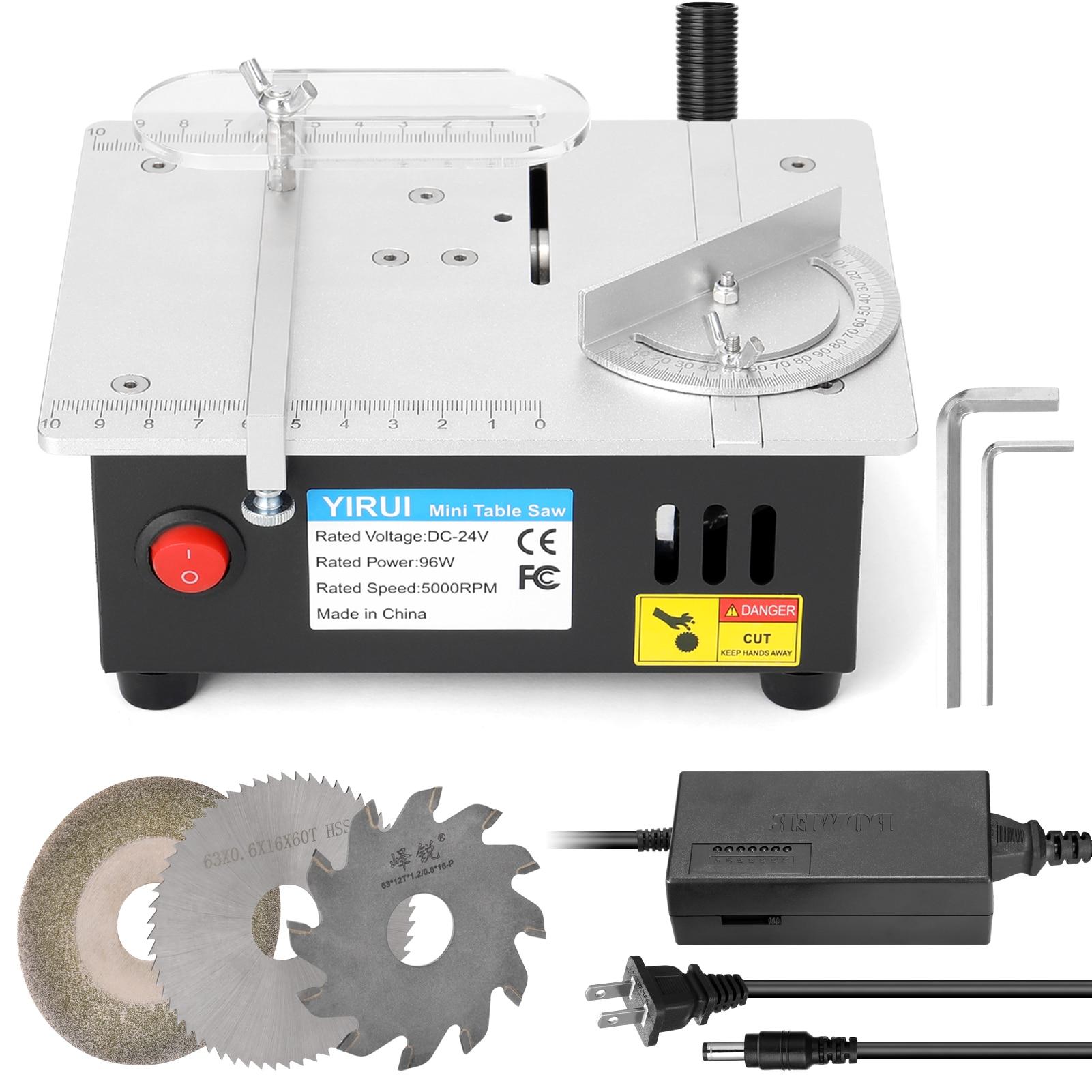مصغرة متعددة الوظائف الكهربائية الجدول المنشار سطح مكتب كهربائي مناشير صغيرة أداة القطع المنزلية مخرطة النجارة قاطع خشب آلة