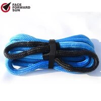 blue 3430ft energy recovery ropeatv winch cabletow rope car kinetic recovery rope