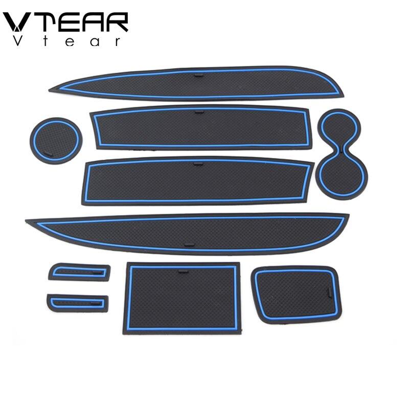 Vtear для Renault Clio, 4-дверный коврик, Противоскользящий коврик, противоскользящий автомобильный коврик, нескользящий коврик для двери, интерьер автомобиля, аксессуары для укладки