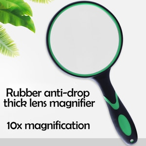 Portable Handheld Magnifying Glass  Reading Magnifier 10X Magnification for  Reading Map Coins