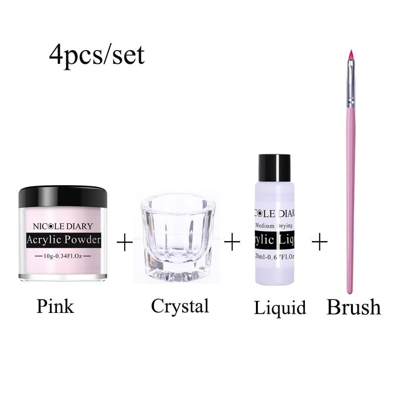NICOLE DIARY Acrylic Powder Set Extension  For Nail UV Gel Polish Nail Art Decoration Tip Builder Cr