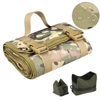 tactical rifle sinper shooting mat roll up training shooters range pad nylon folding mat for hunting with gun rest sand bag