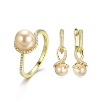 2021 trend earrings ring for women wholesale white jewelry set gift unusual couple rings
