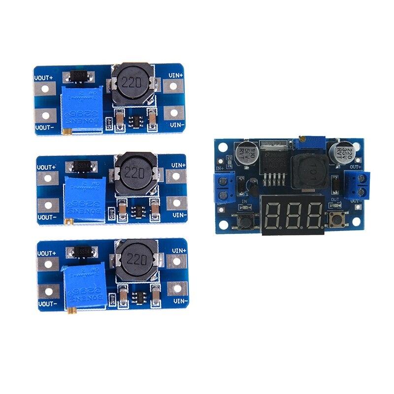 1 Uds LM2596S módulo reductor de alta potencia DC-DC módulo de alimentación ajustable y 3 uds entrada 2V-24V Dc 5V/9V/12V/28V Boost Conv