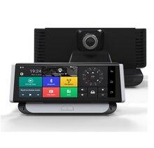 "New Car DVR Dashcam 4G Smart ADAS Android 8"" Center Console Mirror GPS WiFi FHD 1080P Rear Lens Video Recorder Dashboard Camera"