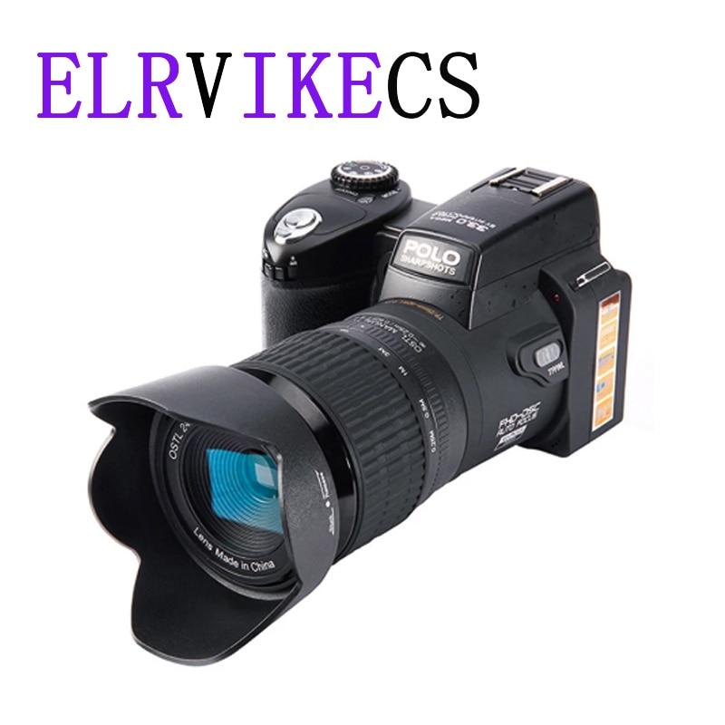 ELRVIKECS-كاميرا رقمية احترافية عالية الدقة 2021 ، POLO D7100 ، تركيز تلقائي 33 مليون بكسل ، كاميرا فيديو SLR ، تقريب بصري 24X ، ثلاث عدسات