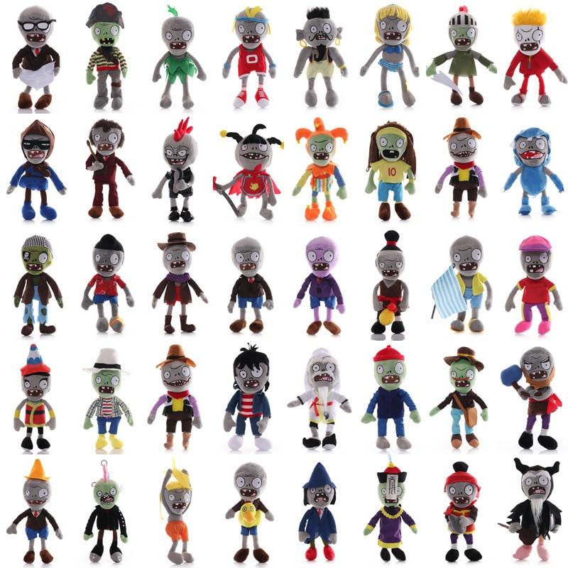 27 estilos de plantas vs Zombies juguetes de peluche 30cm plantas vs zombis PVZ Zombies muñecos de peluche suaves para niños regalos juguetes de fiesta