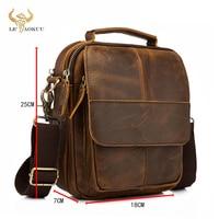 Original Leather Male Fashion Casual Tote Messenger Mochila bag Design Satchel Crossbody Shoulder bag Tablet Pouch Men 148-db