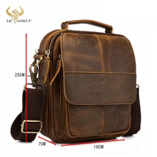 Original Leather Male Fashion Casual Tote Messenger Mochila bag Design Satchel Crossbody Shoulder ba