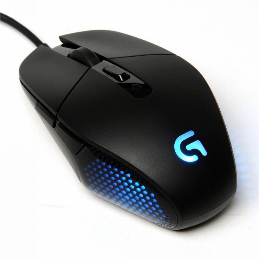الأصلي لوجيتك G302 مريح USB السلكية الألعاب ماوس 6 أزرار 4000 ديسيبل متوحد الخواص ضوء التنفس مصباح الكمبيوتر ماوس بصري ألعاب الفئران