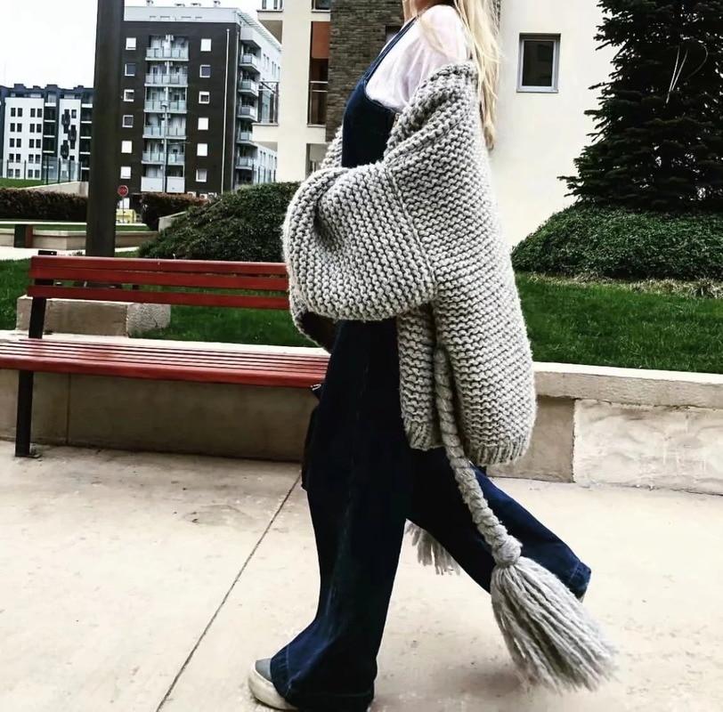 Autumn Winter High Street Women Pink Sweater Womens Cardigan Long Sleeve Hand-woven Belt Sweater Casual Elegant Coats Outwear enlarge