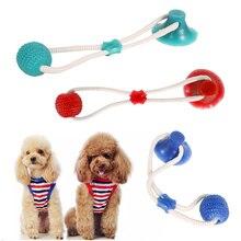 Chien ventouse Push Ball jouets cordes élastiques chiens dent nettoyage à mâcher jouer jouets interactifs fournitures pour animaux de compagnie