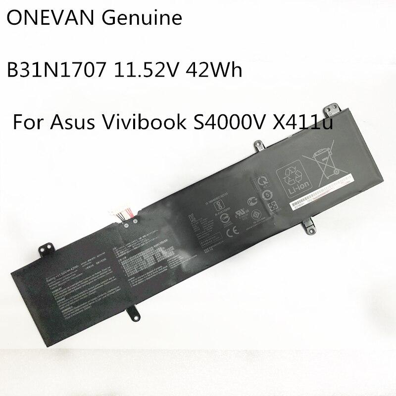 ONEVAN حقيقية B31N1707 بطارية كمبيوتر محمول ASUS VivoBook S14 S410UQ S410UN S41OUN S4100V S4100VN S4200U X411UA X411UF X411UN X411UQ
