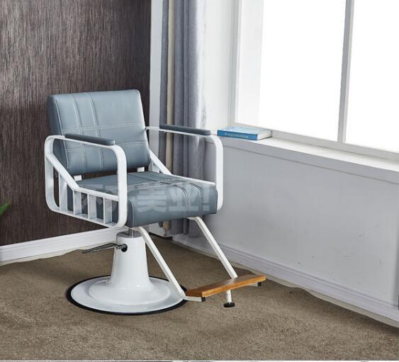Барбершоп стул парикмахерский салон выделенный простой современный салон красоты стул Железный подъемный стул для волос шампунь кровать