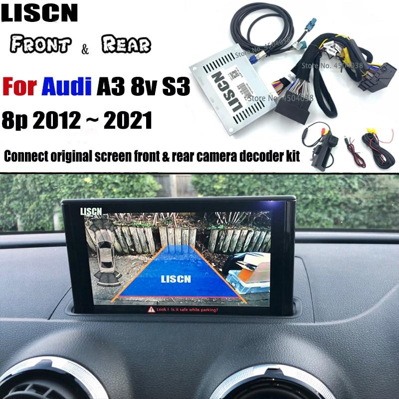 Promo Reversing Camera For Audi A3 8v S3 8p 2012 ~ 2021 backup camera Interface Adapter Front Rear Camera Display Improve Decoder