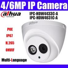 Cámara IP de IPC-HDW4631C-A POE de 4MP y 6MP IPC-HDW4433C-A cámara domo de red cctv con micrófono incorporado de 4MP ipc-hdw4431c-a
