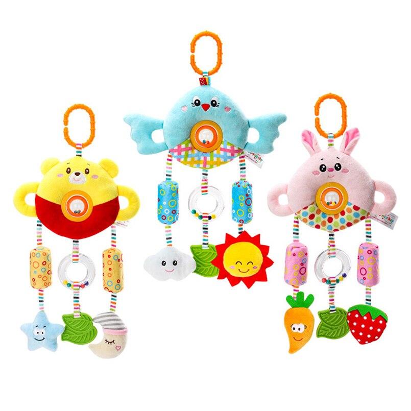 Детские игрушки, Мультяшные детские погремушки, милые плюшевые мягкие погремушки для кровати, поворотные бусины, ручной звонок, детские игр...