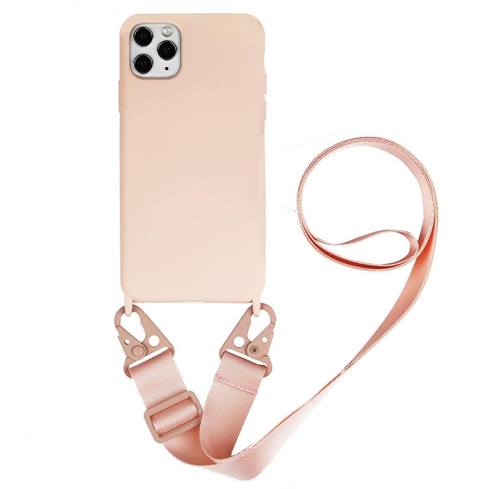 Collar acollador funda para teléfono móvil funda de transporte cuelgue para iPhone 11 Pro SE 2020 XS XR X 6 7 8Plus Correa cordón cadena teléfono cinta