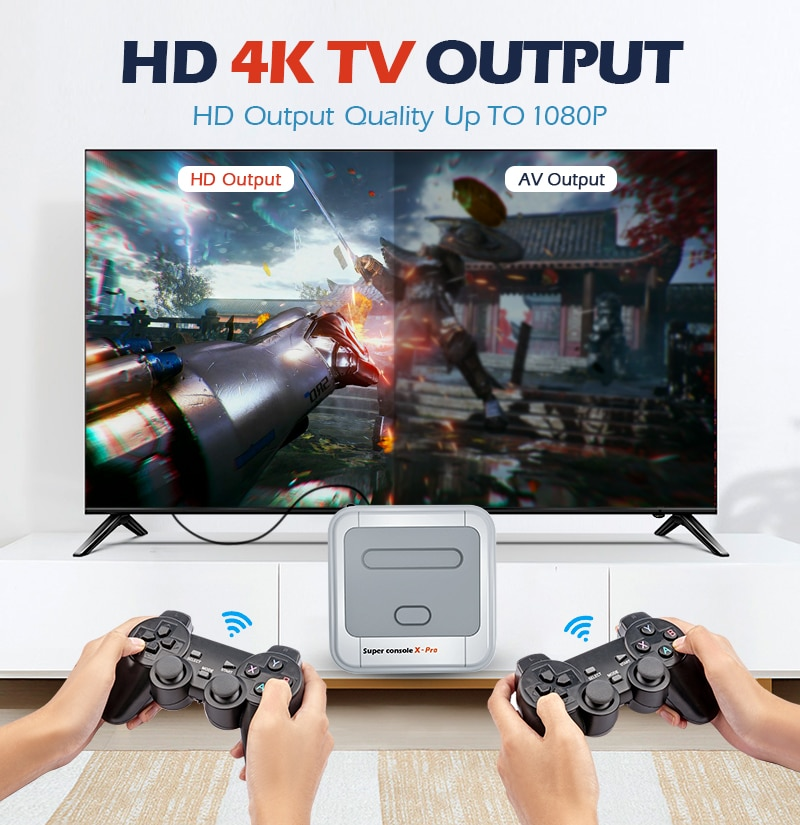 Retro Video Game Consoles Super Console X Pro Wifi 4K HD for PSP/PS1/N64/DC Mini TV Game Players With 50000+ Games 50+ Emulator enlarge