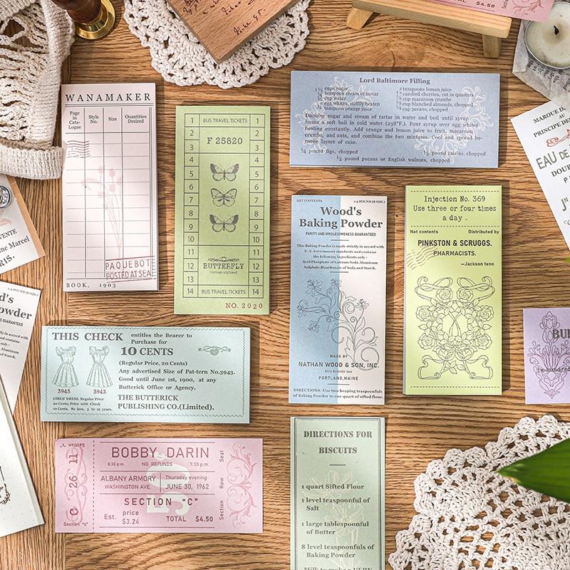 Dimi 50 листов, блокнот для записей с изображением билета и обмена