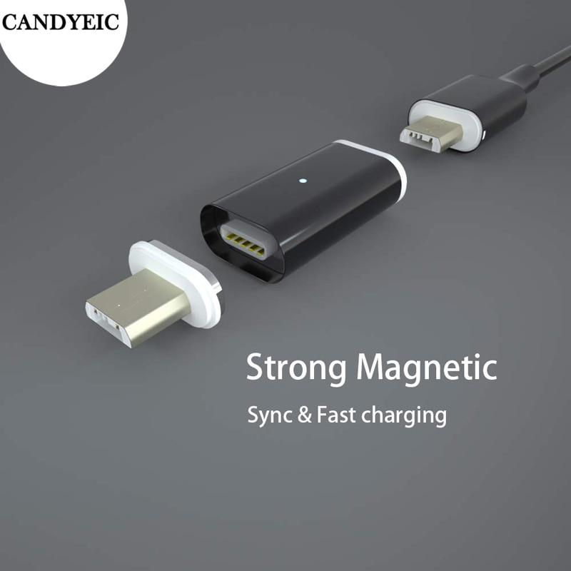 Adaptador magnético Micro USB para Samsung, Xiaomi, Redmi, Honor, LG, cargador para ZTE, Lenovo, vivo, OPPO, Nokia, Sony, HTC, Magnet Charge