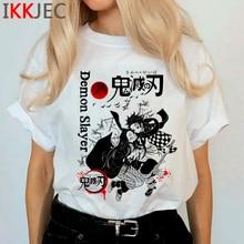Tueur de démons Harajuku Anime T-shirt Femmes Kimetsu Pas Yaiba Ullzang Drôle Dessin Animé T-shirt 90s T-shirt Cool Graphique top T-shirts Femme