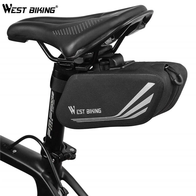 West biking bicicleta sela saco ciclismo pannier traseiro saco à prova dwaterproof água reflexivo assento traseiro da cauda saco selim acessórios