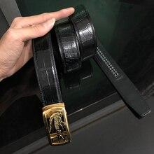 WiMi ceinture en cuir de vache unisexe   Boucle automatique, boucle ardillon, personnalisé, livraison gratuite, haute qualité, boucle automatique