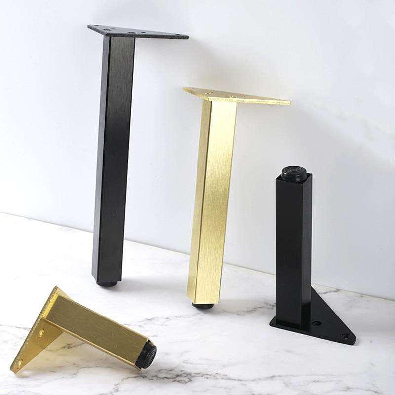 4 шт Регулируемая металлическая мебельная ножка поддержки стопы для Кофе настольная витрина для кресла диван-кровать ноги мебели аксессуар...