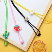 fashion acrylic hang mask chains necklace colorful children glasses cord lanyard student masks holder rope strap for girls boys