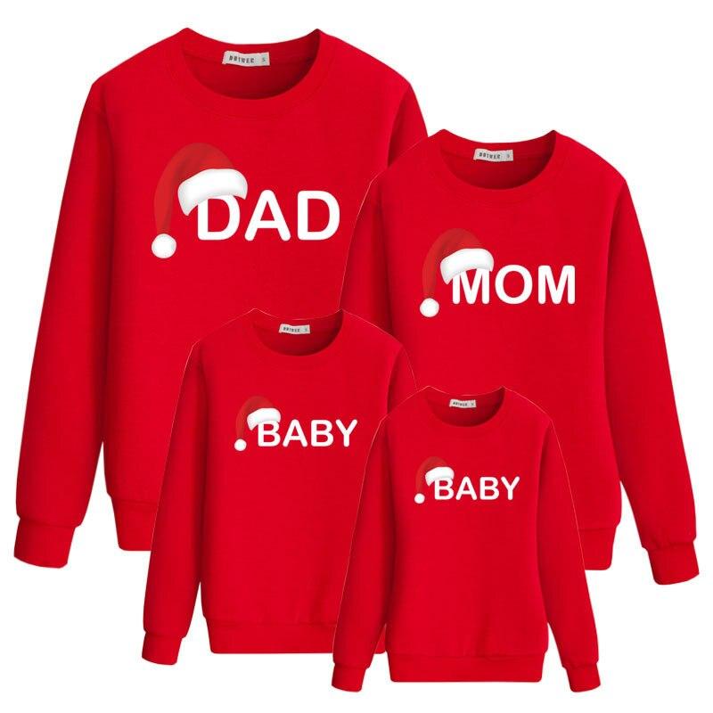 Búsqueda de la familia para papá mamá y yo 2019 papá mamá hija hijo Navidad Año Nuevo algodón suéter pijamas ropa a juego para la familia C0654