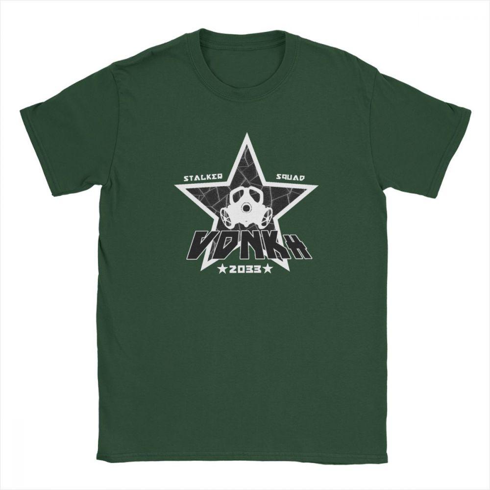 Vdnkh stalker camiseta esquadrão metro êxodo t camisas máscara de gás jogos tóxicos camiseta homem manga curta purificada roupas de algodão