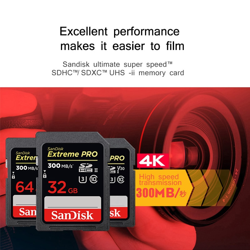 Sandisk Extreme PRO SDXC SD Card 128GB UHS II 32GB 64GB Microcard micro SD Flash Memory Card Ultra High Speed For Digital Camera enlarge