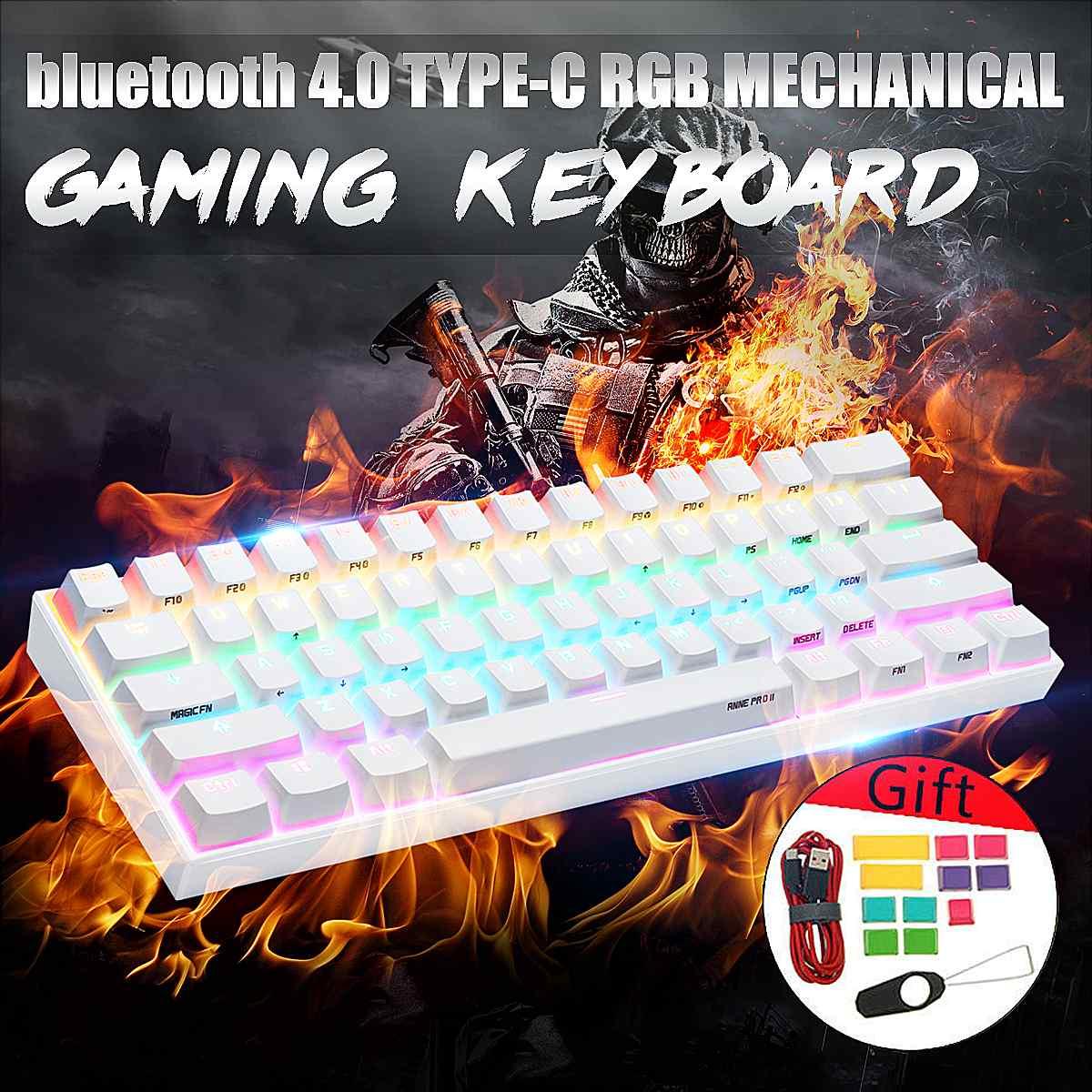 [Gateron Switch]Obins Anne Pro 2 60% NKRO Mechanical Keyboard wireless bluetooth 4.0 Type-C RGB Mechanical Gaming Keyboard