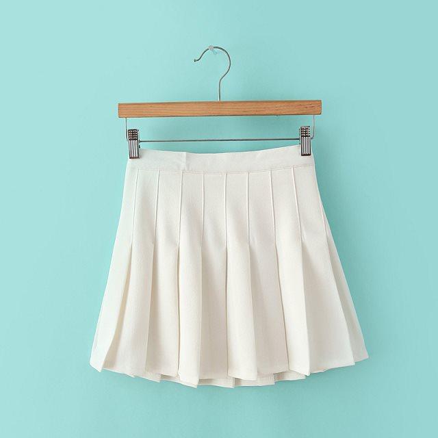 Модная женская пикантная плиссированная мини-юбка, школьная юбка для девушек, скейтборд, теннисная юбка с высокой талией, расклешенная, бел...
