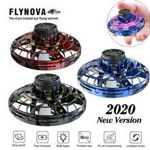 Flynova UFO gyroscope mouche Spinner jouet anti-stress main Mini mouche gyroscope rotateur Drone LED doigt Spinner rotatif enfants jouet