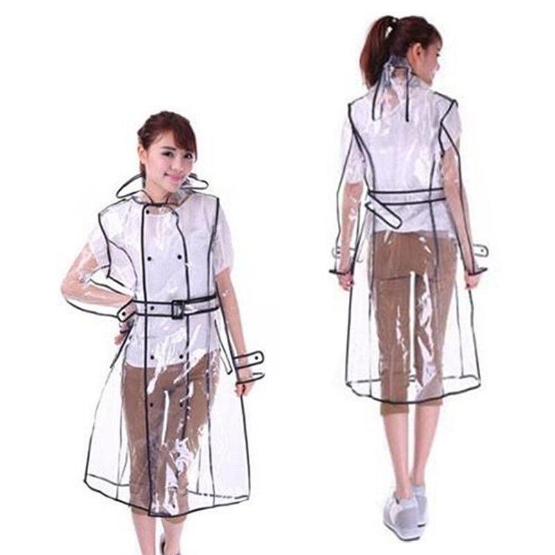 Женский плащ Модный Новый женский для девочек прозрачный винил куртка внешний дождевик для подиума Прозрачный женский плащ с капюшоном
