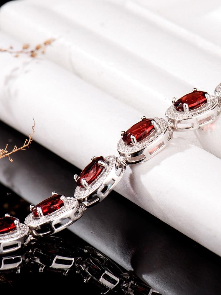 natural Garnet,red gem,925 sterling silver bracelet for women,uxury Jewelry 2020,christmas Halloween,female accessories