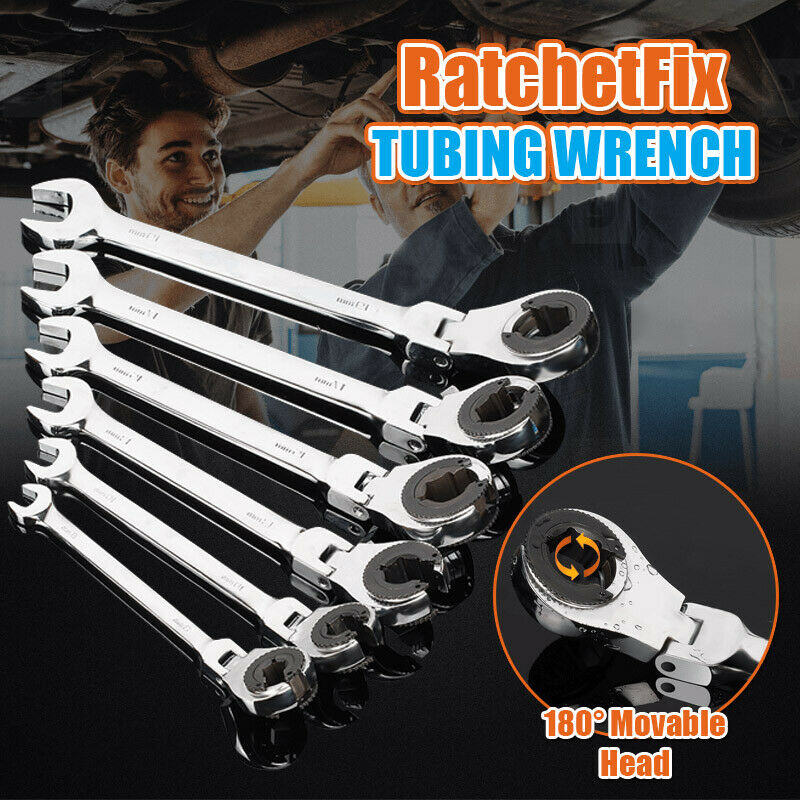 8~19MM RatchetFix Tubing Wrench Spanner with Flexible Head Car Hand Repair Tools Multifunction Wrench Dropshipping