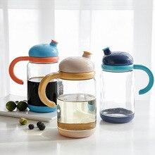 Will Capacity Automatic Open Combine Glass Oiler Leak Proof Kitchen Household To Flavor Bottle Suit Soy Sauce Vinegar Jar