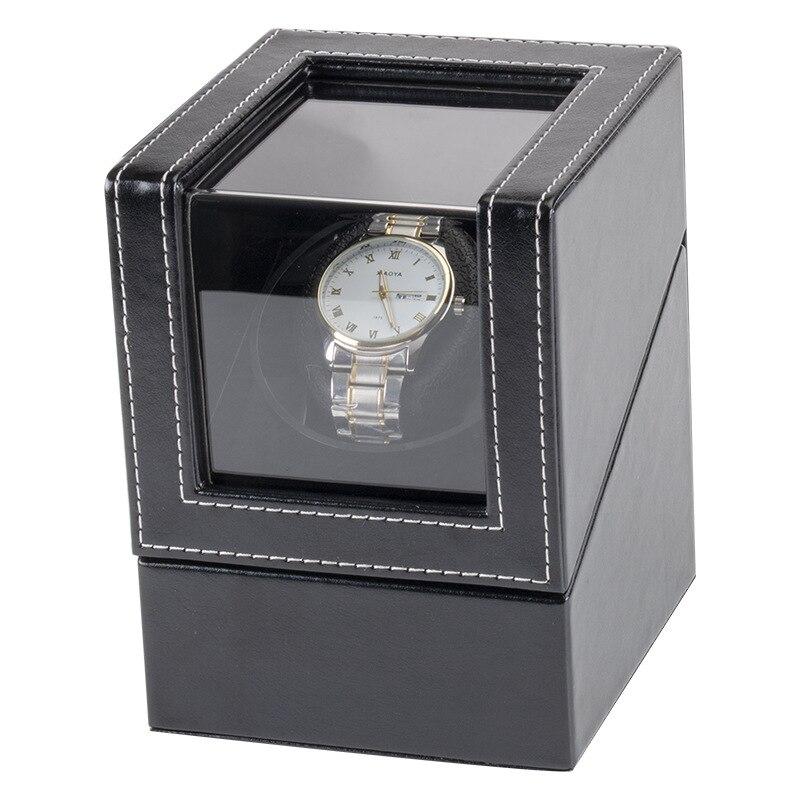Caixa de Enrolamento Fonte de Alimentação Abanador do Motor com Acrílico Relógio Mecânico Preto Transparente Exibição Escudo Mini Titular Dobadoura Usb